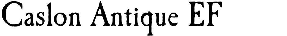 Click to view Caslon Antique EF font, character set and sample text