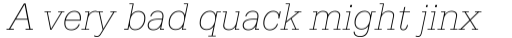 Serifa Thin Italic sample