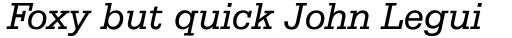 Serifa Italic sample