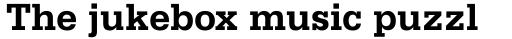 Serifa Bold sample