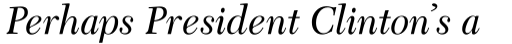 Transitional 511 Italic sample
