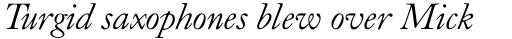 Caslon Old Face Italic sample