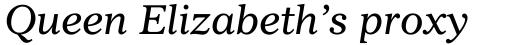 Imperial Italic sample