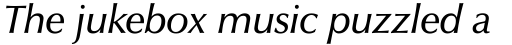 Zapf Humanist 601 Demi Italic sample