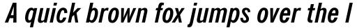 News Gothic Bold Italic Condensed sample