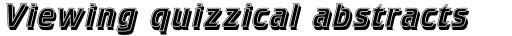 Crillee Italic Inline Shadow sample