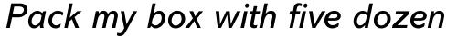 Abadi MT Italic sample