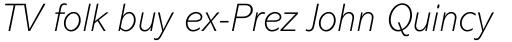 Abadi MT ExtraLight Italic sample