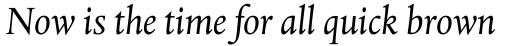 Albertina MT Italic sample