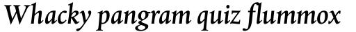 Albertina MT Medium Italic OsF sample