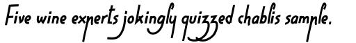 High Script Eighty Italic sample