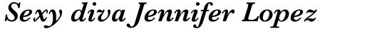 Baskerville MT SemiBold Italic sample