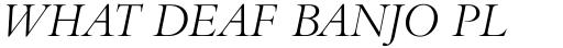 Bembo Titling MT Italic sample