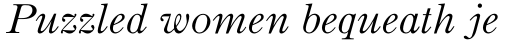 Binny Old Style MT Italic sample