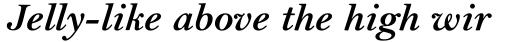 Bell MT Bold Italic sample