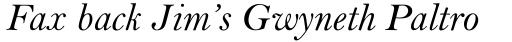 Bell MT Italic sample