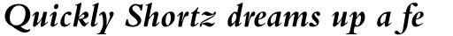 Bembo Bold Italic sample