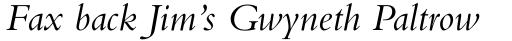 Bembo Italic sample