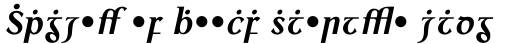 Colmcille Alt MT Bold Italic sample