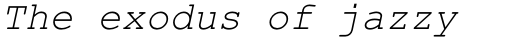 Courier PS Std Italic sample