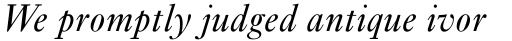 Ehrhardt MT Italic sample