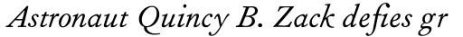 Fournier MT Italic Old Style Figures sample
