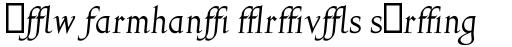Gill Facia MT Italic Alt sample