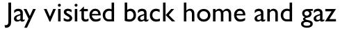 Gill Sans sample