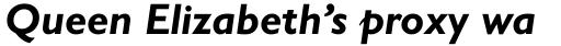 Gill Sans Bold Italic sample