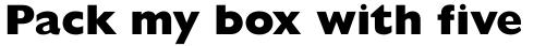 Gill Sans ExtraBold sample