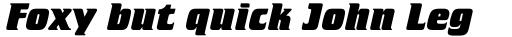 Crillee ExtraBold Italic sample