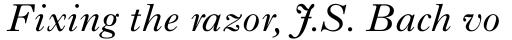Imprint MT Italic sample