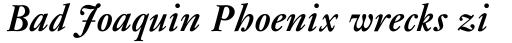 Janson MT Bold Italic sample