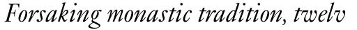 Janson MT Italic sample