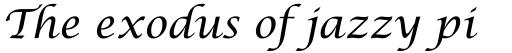 Lucida Calligraphy sample