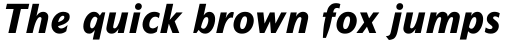Mahsuri Sans MT ExtraBold Italic sample