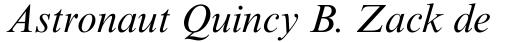 Times New Roman PS Italic sample