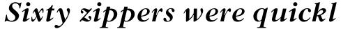 Old Style MT Bold Italic sample