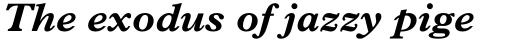 Plantin Bold Italic sample