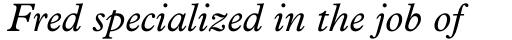 Plantin Italic sample
