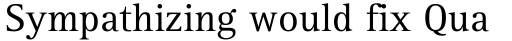 Rotis Serif 55 sample