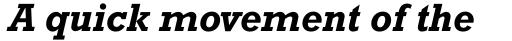 Rockwell Bold Italic sample