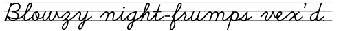 School Script Lined sample