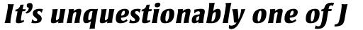 Strayhorn MT ExtraBold Italic OsF sample