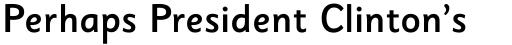 Sassoon Sans Medium sample