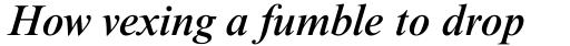Times NR MT Medium Italic sample