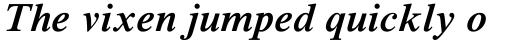 Times NR MT SemiBold Italic sample