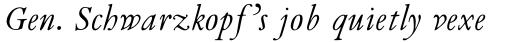 Van Dijck MT Italic sample