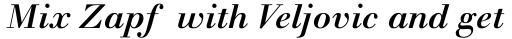 Walbaum MT Medium Italic sample