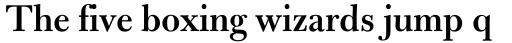 Bulmer MT SemiBold sample